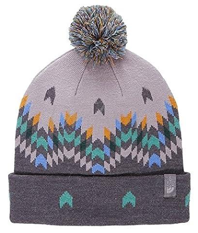 North Face Ski Tuke V Hat, Grey/White/Blue/Rabbit Grey, One Size