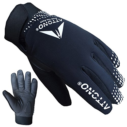 ATTONO Fahrradhandschuhe Winter Fahrrad Mountainbike Handschuhe - Größe M