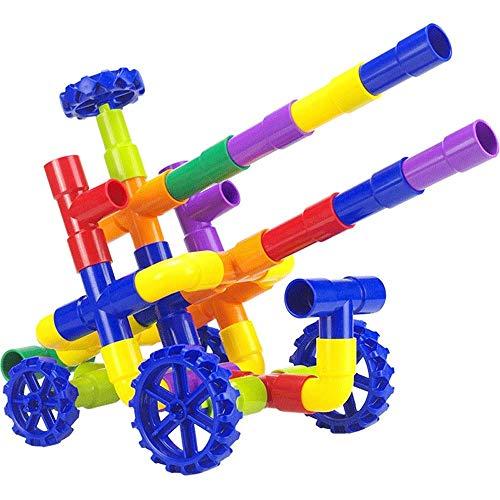 LIIYANN Rechtschreibung Rohr Rennschlauch Zu Bauen Blöcke Kinder Baby Montage Aufklärung Früherziehung Lernspielzeug Männer Und Frauen Baby Spielzeug (Farbe: 100 Beutel)