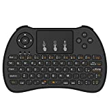 [Layout ITALIANO] Aerb 2.4Ghz Mini Tastiera Senza Fili con Touchpad per Smart TV, PC, Pad, Xbox 360, PS3, Google Android TV Box, HTPC/IPTV - Nero