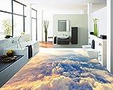 3D Boden Malerei Wallpaper High-Altitude Wolken 3D Bodenbelag Pvc Selbstklebende Tapete 3D-Bodenbelag 200cm(L) x140cm(W)