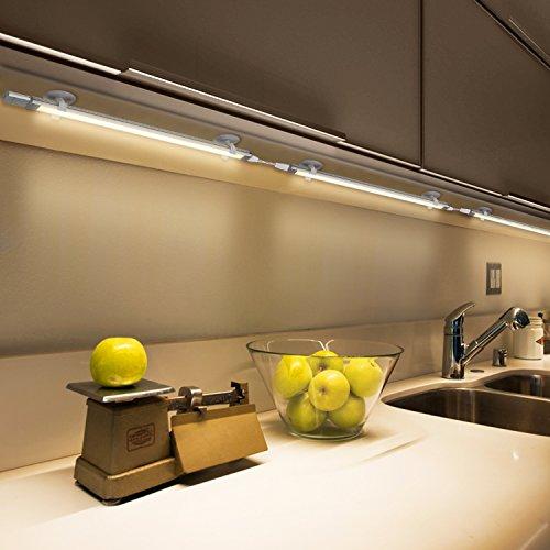 Albrillo 15W 3er Pack Unterbauleuchte Stufenlos-dimmbar Touchfunktion LED Unterbauleuchten mit Saugnapf, inkl. Montage-Zubehör warmweiß