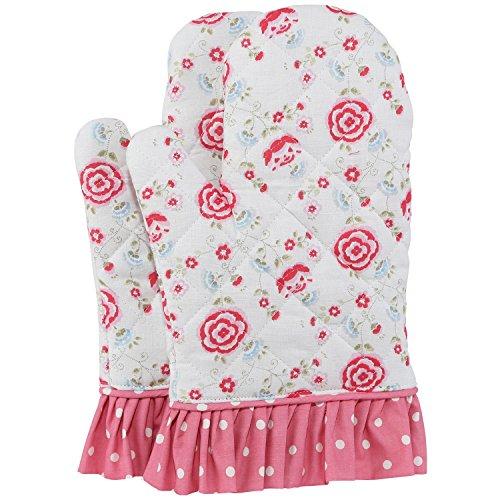 neoviva Baumwolle gesteppt Ofen Handschuhe für Erwachsene Frauen, Stil Doris, Set von 2, baumwolle, Floral Prism Pink, Adult Women Pink Womens Handschuh
