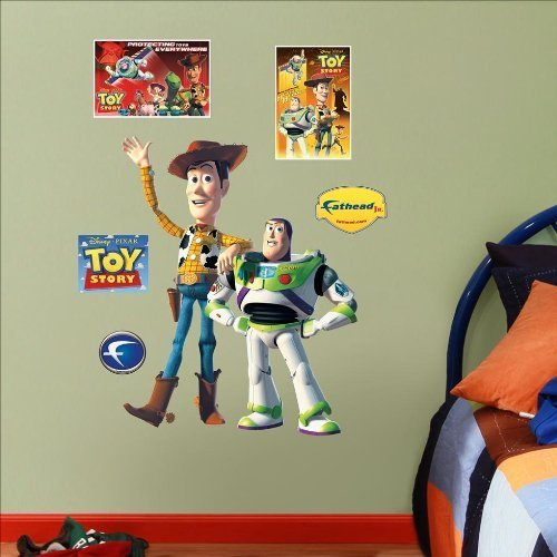 Toy Story Woody & Buzz Junior Wall Graphic by Fathead