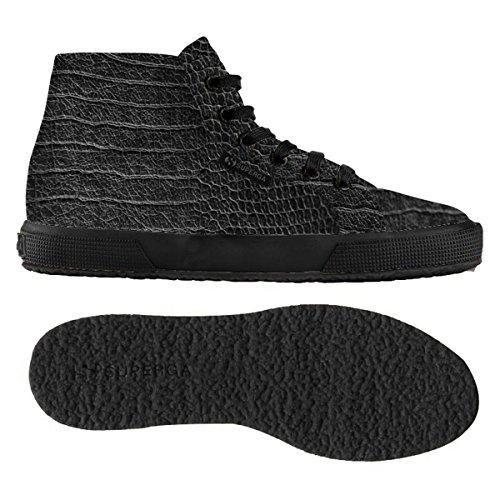 Superga 2095-Plus Fglwembcocco, Sneaker, Donna TOTAL BLACK