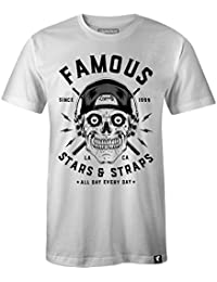Famous Stars & Straps Men's Skull Drummer Graphic T-Shirt