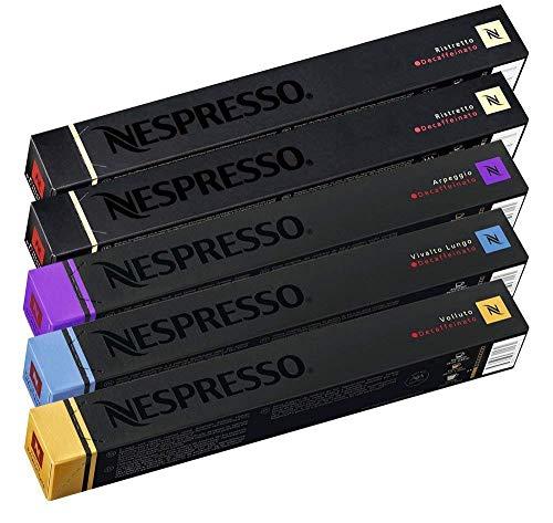 Nespresso decaffeinato pacchetto di selezione del caffé - 50 capsule