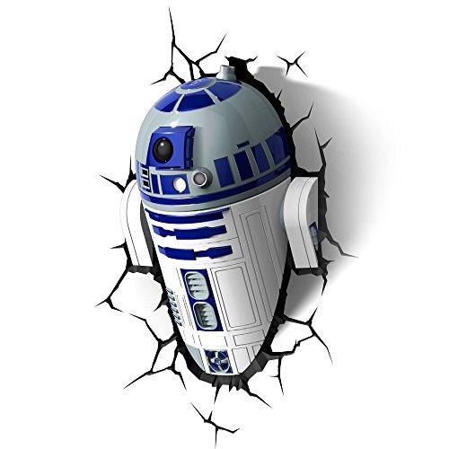 51F1vEXlXML - STAR WARS FX14233 Lampara 3D de Pared R2 D2