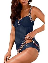 Tankinis Mujer Traje de Baño de Dos Piezas Conjunto Push up Bikini Playa Beachwear