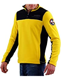 NAPAPIJRI Herren Winter Fleece Sweatshirt SMU TERLER Multicolour BVB Yellow B6OM02