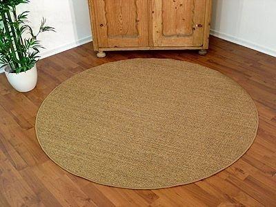 Sisal Natur Teppich Astra Nuss Rund in 7 Größen