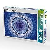 Mandala Blume des Lebens blau 1000 Teile Puzzle quer (CALVENDO Glaube)