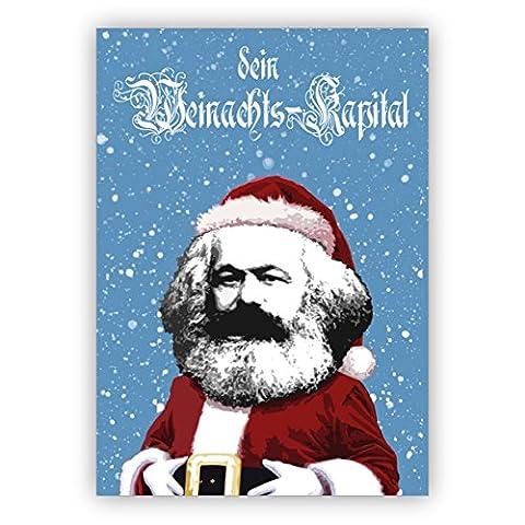 Weihnachtskarten Set (16Stk) Lustige Marx Weihnachtsmann Weihnachtskarte auch als Gutschein: dein Weihnachts-Kapital (Klappkarten / Glückwunschkarten / Neujahrskarten /Weihnachtspost)