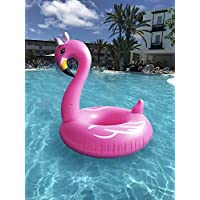 Inflatable Pink flamingo Swimming Mattress Pool Float Rubber Ring Lilo lounger Toy.