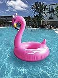 Aufblasbarer Flamingo Schwimmring Luftmatratzen. Aufblasbarer Riesiger Flamingo Pool Floß Durch (120cm)