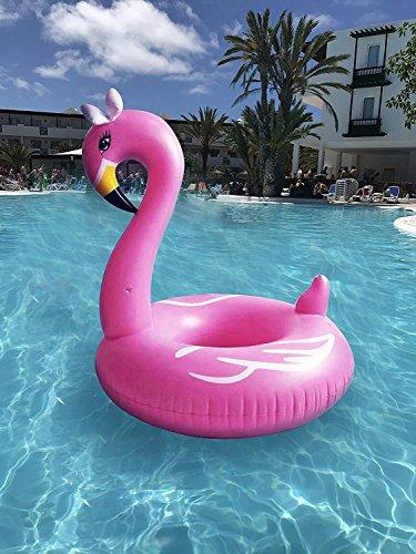 Fenicottero Rosa Gonfiabile e Galleggiante per Mare e Piscina. Bambini e adulti piscina gonfiabile Fenicottero Materassino. Gonfiabile piscina giocattolo Fenicotteri (oro rosa)