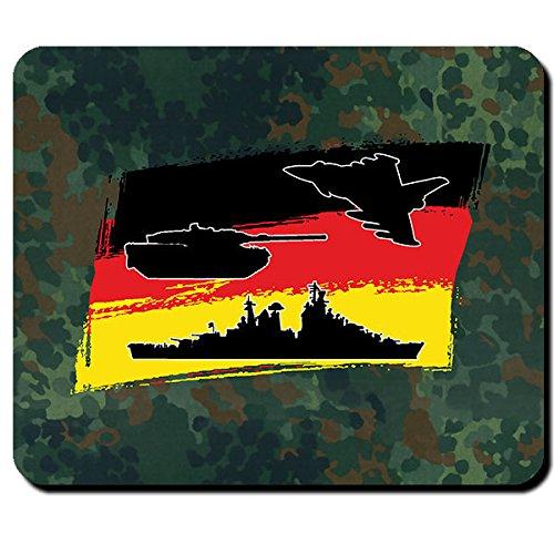 Luftwaffe Heer Marine Bundeswehr Bund Bw Deutschland Fahne Flagge Flugzeug Panzer Schiff - Mauspad Mousepad Computer Laptop PC #9991 (Flagge Schiffe Für)