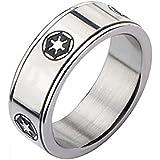حلقة سبينر رمز الإمبراطورية المجرة من الفولاذ المقاوم للصدأ للرجال من ديزني ستار وورز