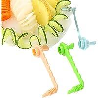 Gluckliy Karotten Spiral Schneidemaschine Küchen Schneid Modelle  Kartoffelschneider Schnitzwerkzeug (Blau)