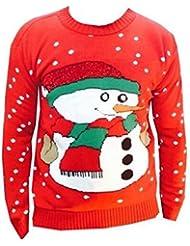 MIXLOT Frauen, Damen-Strick Festliche Weihnachten / Charaktere Pullover Jumper Winter tragen Größen S / M, M / L