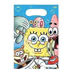Pack of 6 SpongeBob SquarePants Party Plastic Party Bags