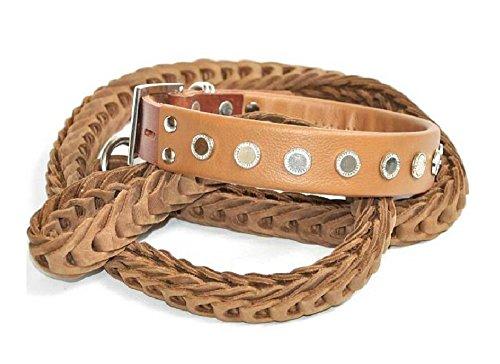 Kingpets Hunde Geschirre Halsbänder Hunde Leinen Groß Einstellbar Leder H028