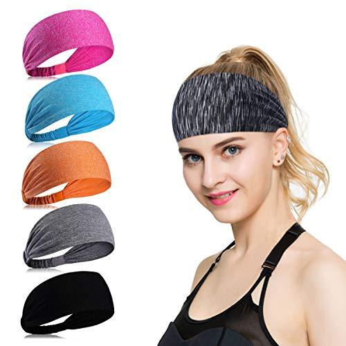 ECOMBOS Sport Stirnband für Frauen Lady - Headband Schweißband für Workout, Jogging, Walking, Yoga, Fitness, Crossfit