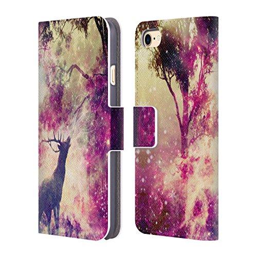 Ufficiale Haroulita Arcobaleno Glitter Luce Cover a portafoglio in pelle per Apple iPhone 6 Plus / 6s Plus Cerco