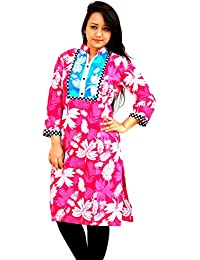 Aarti Collections Flower PinkStylish Kurti