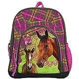 Maxi & Mini - Mochila infantil, diseño de caballos y pony