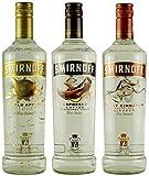 Geschenkset Smirnoff flavoured Vodkas: Smirnoff Gold Apple, Smirnoff Espresso, Smirnoff Sweet Cinnamon   3x 0,7 Liter, 37,5%