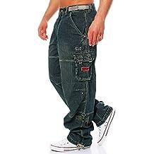 Jet Lag Herren Cargo Jeans Hose Safety Loose-Fit denim 341348aa84