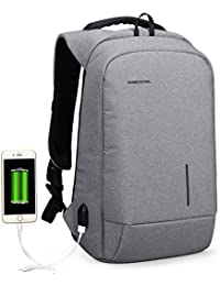 f53fdb117 Business Laptop Mochila 13.3/15.6 pulgadas con puerto de carga USB  Impermeable Travel Anti Theft Daypack Bolsa de la universidad para…