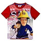 Feuerwehrmann Sam - Kinder T-Shirt - to The Rescue - Größe 98-128, Größe:110, Farbe:Rot