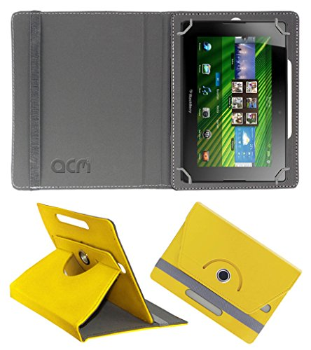 Acm Rotating 360° Leather Flip Case for Blackberry Playbook Cover Stand Yellow  available at amazon for Rs.149