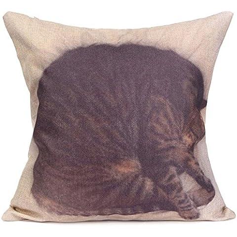 Ology(R)- biancheria cotone Piazza animale gettare le federe vita Home Office Fodera per cuscino