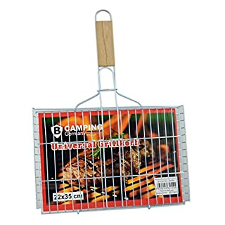 amara-global 22x35 cm Fish Grill Griller Bbq Turner Fish Grill Basket Vegetable Burger Patty