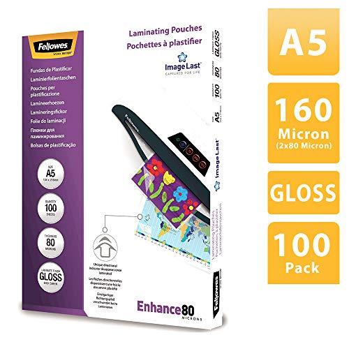 Fellowes 53600 - Pack de 100 fundas de plastificar