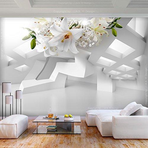 decomonkey | Fototapete Blumen Lilien Abstrakt 400x280 cm XL | Tapete | Wandbild | Wandbild | Bild | Fototapete | Tapeten | Wandtapete | Wanddeko | Wandtapete | 3d Effekt Architektur Modern | FOA0099a84XL