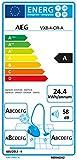 AEG VX8-4-CR-A Staubsauger mit Beutel (750 W, EEK A, nur 58 dB(A), 12 m Aktionsradius, Softräder, 3,5 l Staubbeutelvolumen, waschbarer Allergy Plus Filter) chilli rot - 2