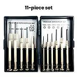 PoeHXtyy 11PCS Destornillador de precisión Set Mini Gafas Kit de reparación Micro joyeros Herramientas para la joyería Reloj de reparación de Gafas