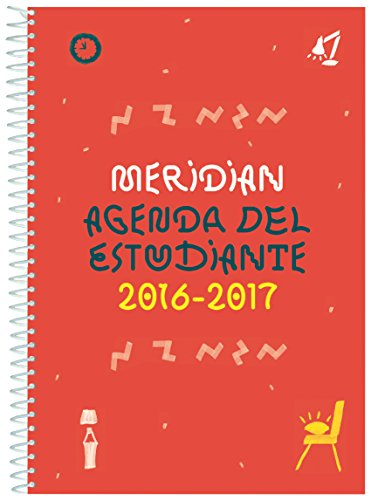Additio A132 - Agenda Meridian 2016-2017 para educación secundaria, color rojo