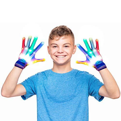 Easony Juguetes Geniales para Niños Niñas 12-18 Años, Guante Intermitente Regalo de Cumpleaños Niños Niñas 9-12 Años Juguetes para Niños Niñas de 3-12 Años Fiesta Cumpleaños Niños Niñas 10-16 Años