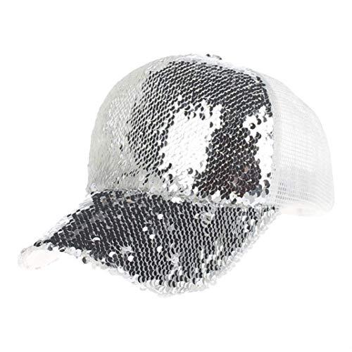 f2650a1a94b085 Mützen Cap Unisex Baseball Cap Schwarz Sequins+Polyesterfaser Brief Hut  Blau Gold 20er Jahre Pink. Infos zu den Nutzungsrechten. Mode Frauen Männer  ...
