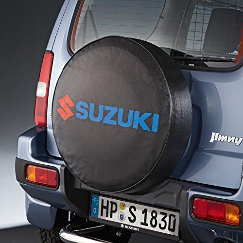 Suzuki - Tessuto di copertura per ruota di scorta con logo, per Suzuki Jimny