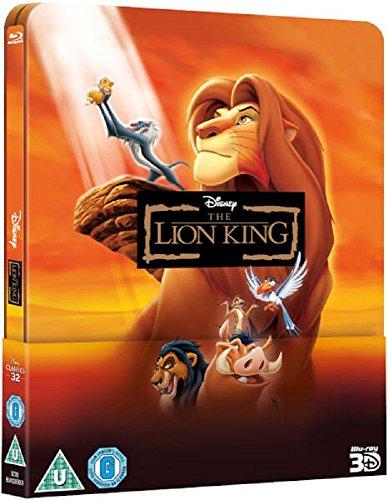 Der König der Löwen 3D/2D, Steelbook, Blu-ray, Lenticular Steelbook, ohne deutschen Ton, The Lion King 3D – Zavvi Exclusive Limited Steelbook:The Disney Collection #32 (Blu-ray 3D + Blu-ray) (UK Import ohne dt. Ton) Blu-ray, Uncut, Regionfree