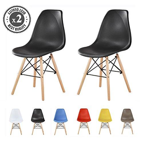 Lot de 2 chaises au Design Moderne de Style scandinave, Lia par MCC
