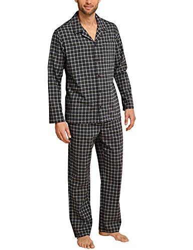 Schiesser Bavarian Roots Flanell-Pyjama, geknöpft Herren