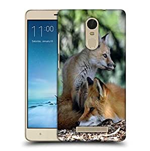Snoogg Family Fox Printed Protective Phone Back Case Cover For Xiaomi Redmi Note 3