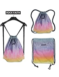 Amazhu Drawstring Backpack Foldable Cinch Sack Basic Sackpack Gym Tote Dance Bag For Swimming Shopping Sports... - B074PRKK2Q